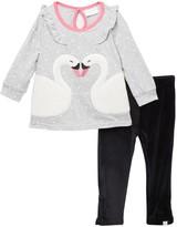 Rosie Pope Flutter Swan Tunic & Leggings Set (Baby)