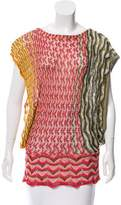 Missoni Patterned Silk-Blend Top