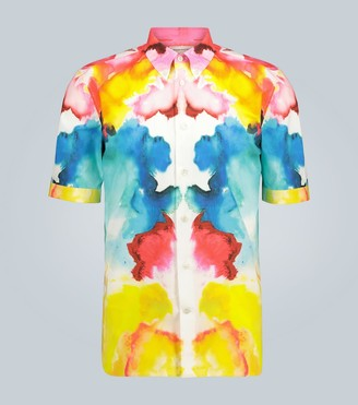 Alexander McQueen Mirrored Ink cotton shirt