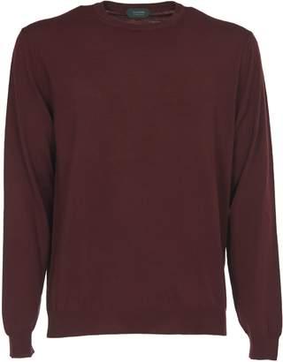 Zanone Burgundy Blend Virgin Wool Sweater
