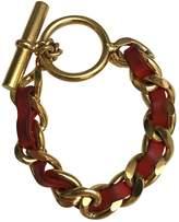 Chanel Red Metal Bracelet