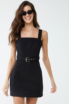 Forever 21 Belted Twill Mini Dress