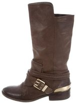 Brian Atwood Leather Mid-Calf Boots