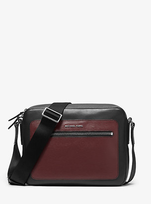 Michael Kors Hudson Two-Tone Leather Camera Bag