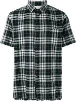 Saint Laurent short sleeved checked shirt - men - Cotton/Polyurethane - XXS