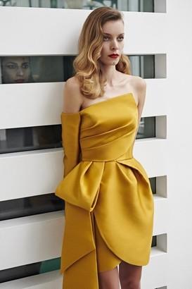 AZZI & OSTA Strapless Asymmetrical Short Dress