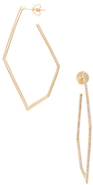 Maiyet 18K Yellow Gold & 1.02 Total Ct. Diamond Geometric Skinny Hoop Earrings