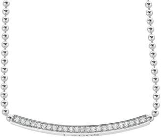 Lagos Sterling Silver Caviar Spark Diamond Bar & Ball Chain Necklace, 16""