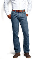 Classic Men's Straight Fit Jeans - Custom Hemming-Washed Vintage Indigo