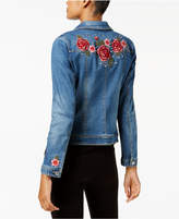 INC International Concepts Embellished Denim Trucker Jacket, Created for Macy's
