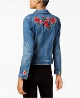INC International Concepts Embellished Denim Trucker Jacket, Created for Macy's