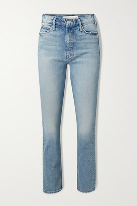 Mother The Dazzler High-rise Straight-leg Jeans - Blue