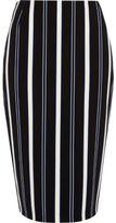 River Island Womens Blue stripe midi pencil skirt