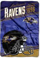 Northwest Baltimore Ravens Stagger Microfleece Oversized Throw by Northwest