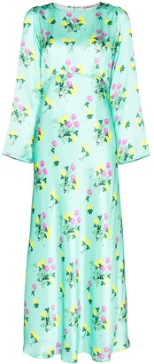BERNADETTE Jane floral-print silk dress
