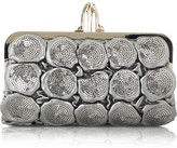 Carillon quilted leather clutch