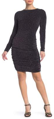 Free Press Sparkle Knit Ruched Bodycon Dress