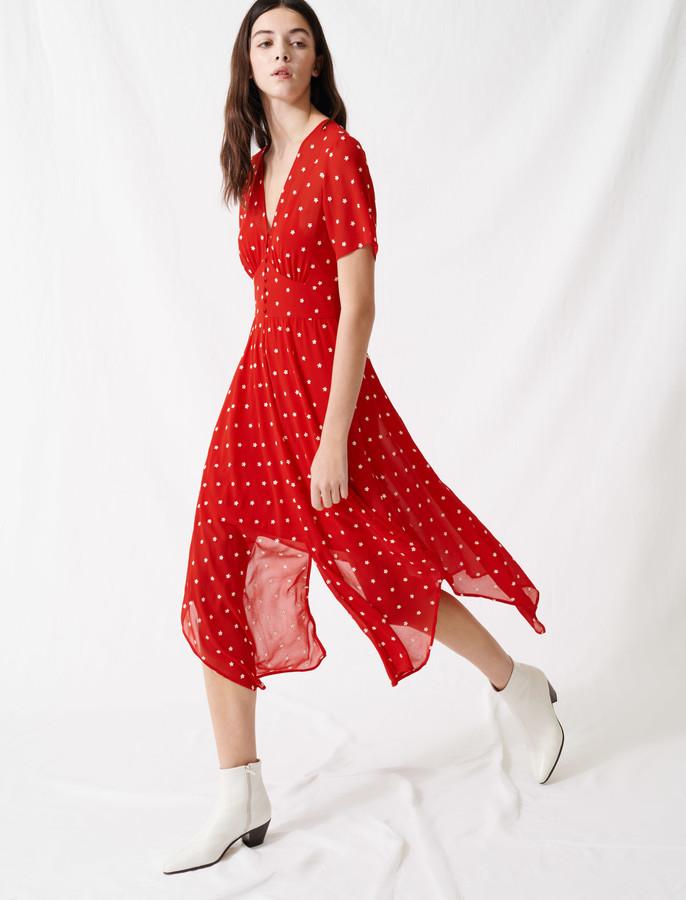 Maje Long embroidered dress