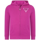 GUESS GuessRaspberry Hooded Zip Up Top