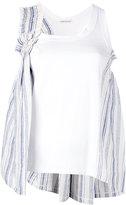 Stefano Mortari layered tank top - women - Cotton/Linen/Flax - 42