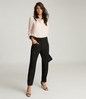 Reiss Delaney - Sequin Collar Shirt in Ivory