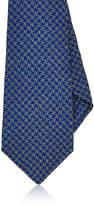 Kiton Men's Houndstooth Silk-Wool Necktie