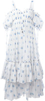 Alexander McQueen floral ruffled midi dress - women - Silk/Cotton/Polyamide - 40
