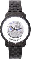 Croton Mens Black Skeleton Watch