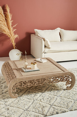 Anthropologie Handcarved Nivaan Coffee Table By in Grey Size ALL