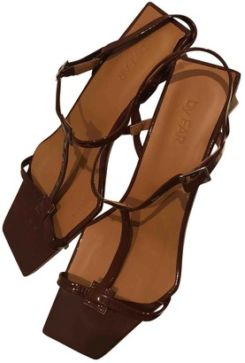 BY FAR Brown Patent leather Sandals