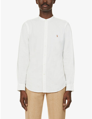 Polo Ralph Lauren Logo-embroidered slim-fit cotton-chambray shirt