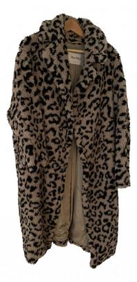 Max Mara Teddy Bear Icon Beige Linen Coats