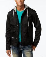 Lrg Men's Hooded Denim Jacket