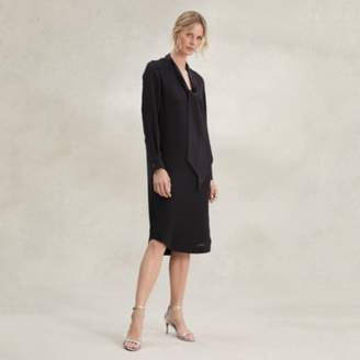 The White Company Tuxedo Shirt Dress , Black, 14