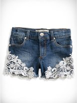 GUESS Embellished Lace-Trim Shorts (2-6x)