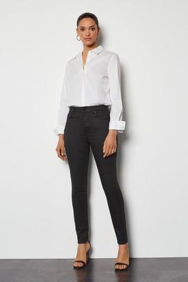Karen Millen Coated Black Jeans