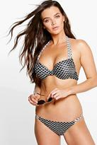 Boohoo Peru Grid Underwired Bikini