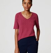LOFT Vintage Soft V-Neck Pocket Tee