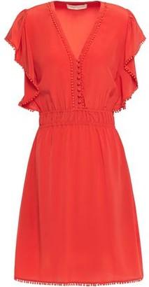 Vanessa Bruno Laurea Embellished Silk Crepe De Chine Mini Dress