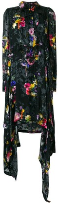 Preen by Thornton Bregazzi Amelia floral asymmetric dress