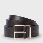 Paul Smith No.9 - Men's Black Leather Belt