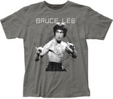 Impact Bruce Lee Famous Martial Artist Fighting Stance Adult Fitted Jersey T-Shirt Tee