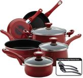 Farberware New Traditions 12-Piece Red Cookware Set with Lids