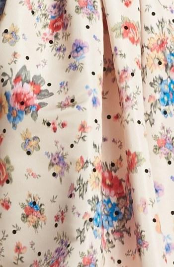 RED Valentino Flower & Polka Dot Print Dress