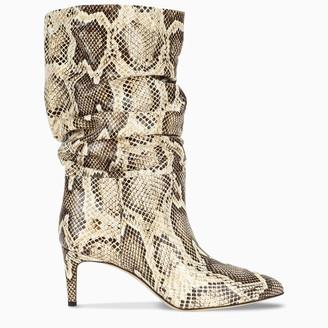 Paris Texas Beige snake print boots