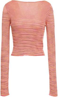 M Missoni Cropped Ribbed-knit Top