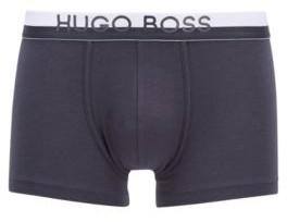 HUGO BOSS Logo Trunks In Stretch Fabric With Two Tone Waistband - Dark Blue