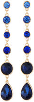 Fragments for Neiman Marcus Ombre Crystal Linear Dangle Earrings, Blue