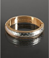 metallic silver snakeskin 'Bangle' bracelet