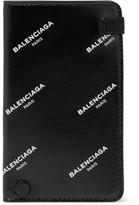 Balenciaga Printed Leather Cardholder - Black